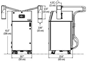 Videojet BX6500 BX6600 Dimensions